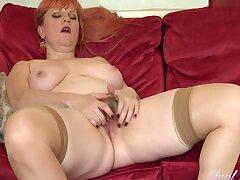Milf, Big Ass, Big Tits, British, HD, Hairy, Red Head, Solo Female, Stockings