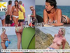 Blondes, Milf, Small Tits, Beach, Big Ass, Brunette, Outdoor, Solo Female, Voyeur