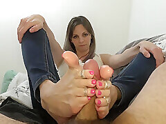 Amateur, Fetish, Milf, POV, Brunette, Foot Fetish, Footjob, HD