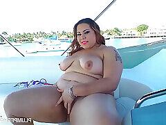 Amateur, Milf, BBW, Big Ass, Big Tits, Brunette, HD, Outdoor, Solo Female, Toys