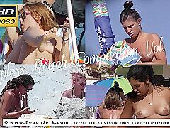Milf, Beach, Big Ass, Brunette, Outdoor, Red Head, Smoking, Solo Female, Voyeur