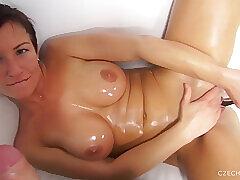 Amateur, Cumshot, Milf, POV, Handjob, Cum, Big Tits, Brunette, Casting, Czech, HD, Toys