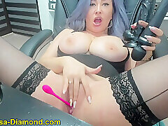Amateur, Milf, Webcam, Big Ass, Big Tits, HD, Solo Female, Stockings, Toys