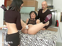 Amateur, Anal, Milf, Threesome, Brunette, Creampie, Fisting, HD, Tattoo, Toys