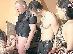 Amateur, Milf, Group Sex, Handjob, Sex, Couple, Facial, German, HD, Stockings, Swingers, Tattoo