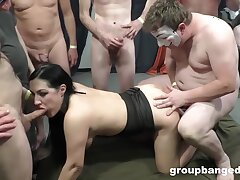 GangBang, Milf, Group Sex, Handjob, Sex, Big Tits, Brunette, Deepthroat, HD