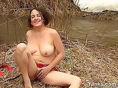 Amateur, Milf, Big Tits, Brunette, Female Orgasm, HD, Hairy, Outdoor, Solo Female