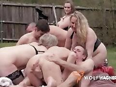 Milf, Big Boobs, Fuck, Fingering, Granny, Outdoor