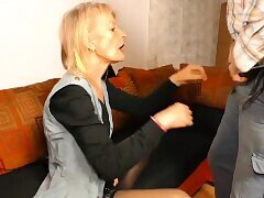 Blondes, Blowjob, German, Granny, HD, Stockings
