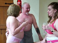 Mature, Fetish, Threesome, Big Boobs, Granny, HD, Lingerie, Stockings