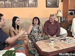 Teen, Mature, Blowjob, Milf, Threesome, Group Sex, Sex, Brunette, Czech, European, Granny
