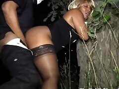 Amateur, BBW, Doggystyle, HD, Outdoor, Public, Stockings