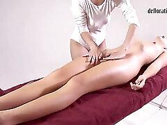 Masturbation, Teens, First time, Big Tits, Brunette, Massage