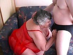 80 yr grey Grandma Libby fucks youthful old crumpet