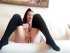Amateur, Cumshot, Masturbation, Milf, Cum, Fuck, Dildo, Babe, Brunette, Fisting, Lingerie, Solo Female