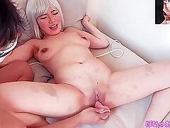 Asian, POV, Threesome, Handjob, Dildo, Big Tits, HD, Japanese