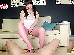 Asian, Fetish, POV, Handjob, Big Tits, Brunette, Foot Fetish, HD, Japanese