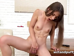 Teenagers Narrow Cunt Screwed Press fixed On touching Fucktoys