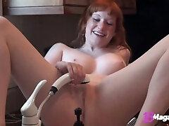 Amateur, Teen, Masturbation, Big Tits, Fingering, Red Head, Solo Female, Toys